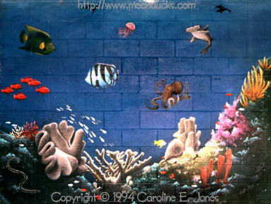 Coral reef mural archive caroline jones mckay for Coral reef mural
